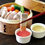 豆腐ようソースの蒸し豚